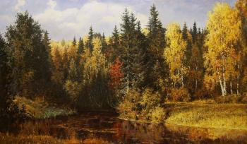 Autumn in Abramtsevo, a copy of the painting by V. Polenov