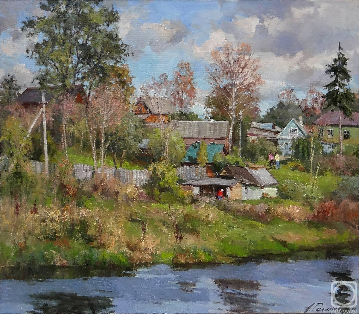 Galimov Azat. Warm autumn in Old Ladoga