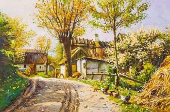 Copy of the painting by Mensted Peter Merck. Country Road. Kamskij Savelij