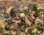 Chistiakov Vsevolod. Autumn still life with yellow Apple