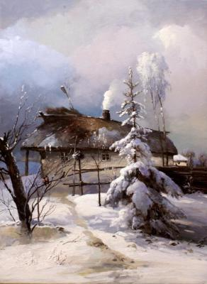 Pryadko Yuri. Hut at the edge of village