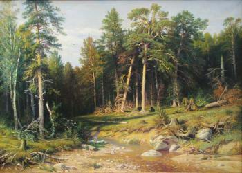 "Copy of work of I. I. Shishkin ""Pine forest"". Matveev Mihail"