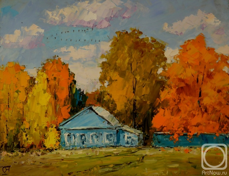 Averchenkov Oleg. The little blue house