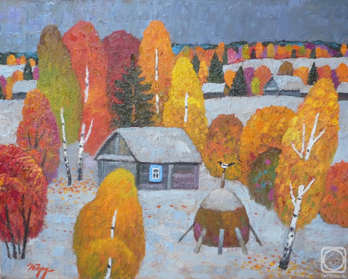 Berdyshev Igor. First snow in Smedovo