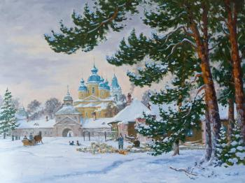 Alexandrovsky Alexander. Winter at Konevets