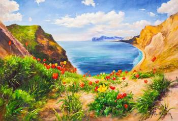 Poppies and the sea. Romm Alexandr