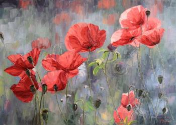 Red Poppies. Krasovskaya Tatyana