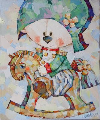 Butuzova Elena. Teddy bear on the horse