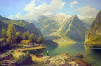 Grokhotova Svetlana. On the shore of a mountain lake
