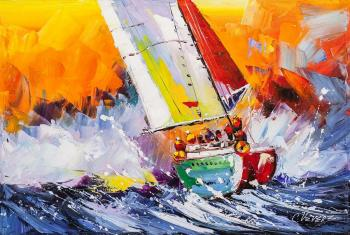 Vevers Christina. Regatta. Towards the Waves