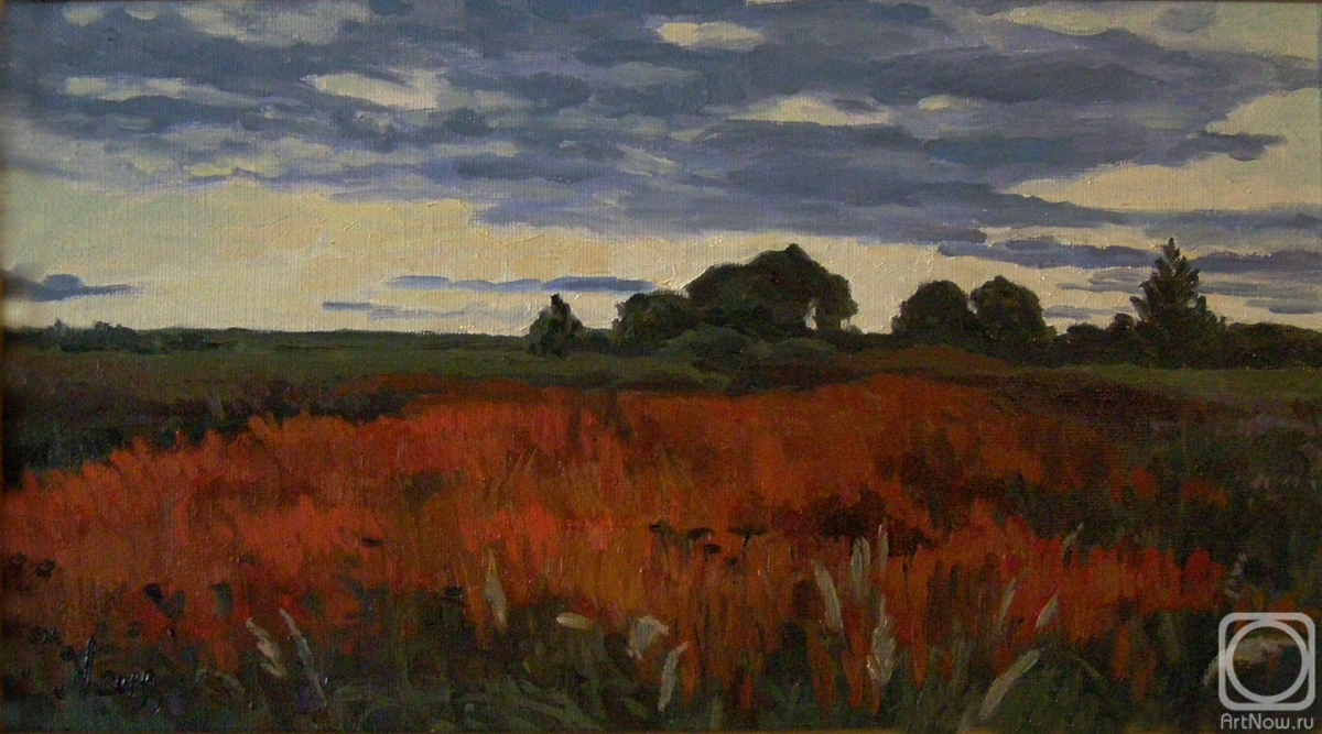 Homyakov Aleksey. Orange thickets. Twilight