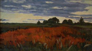 Orange thickets. Twilight. Homyakov Aleksey
