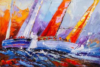 Vevers Christina. Regatta. Multi-colored sails