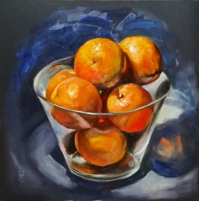 Sergeyeva Irina. Oranges in the glass bowl