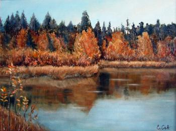 Savelyeva Elena. Autumn on Black lake