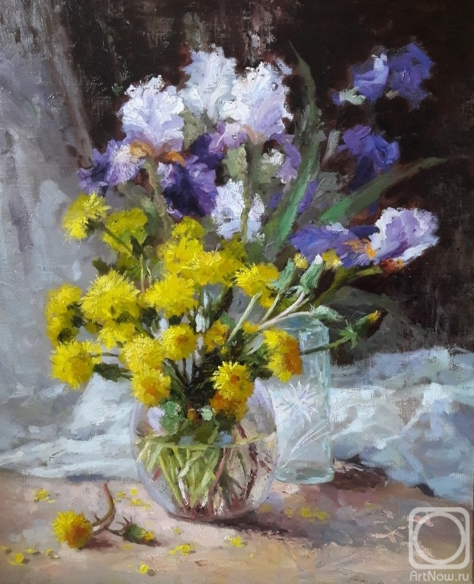 Nikolaev Yury. Dandelions and irises
