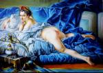 Gaan Vladimir. Dark-haired odalisque