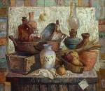 Still life with blue vase. Smorygina Anna