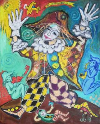 Harlequin in love. Yevdokimov Sergej
