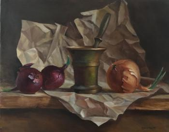 Onion and mortar (Dutch Still Life). Sizonenko Oleg