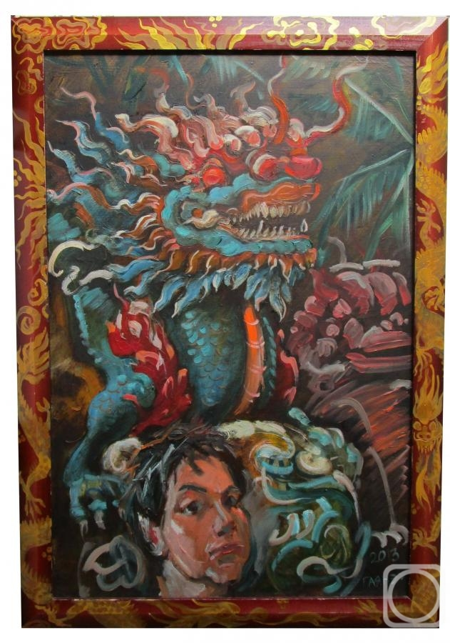 Dobrovolskaya Gayane. Self-portrait with a Vietnamese dragon i a frame