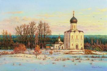 Panin Sergey. Church of the Intercession on the Nerl. Evening March