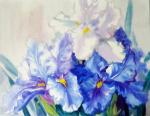 Irises in the spring. Mikhalskaya Katya