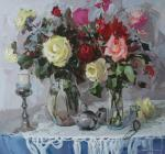 Kovalenko Lina. Still life with roses