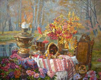 Panov Eduard. Golden still life