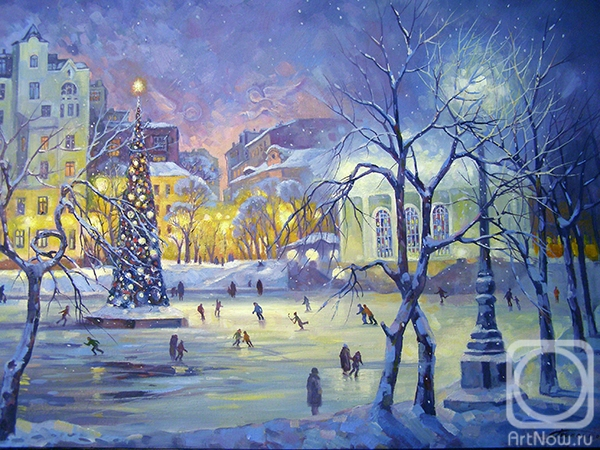 Gerasimov Vladimir. Moscow. The rink at Patriarch's Ponds