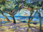 Boats on the shore. Bocharova Anna