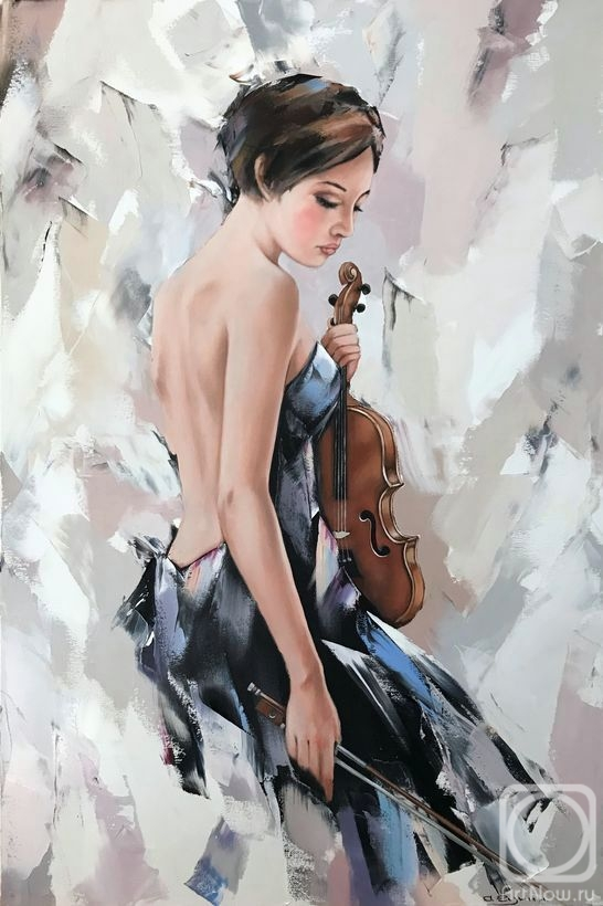 Gunin Alexander. Girl with a violin