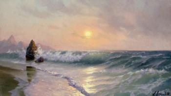 Luzgin Andrey. Gentle sunrise on the sea