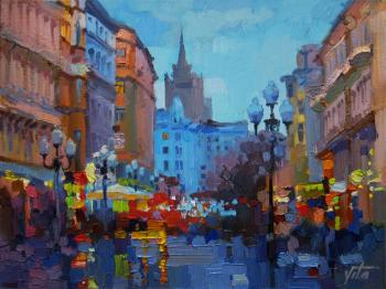 The lights of the old Arbat. Chizhova Viktoria