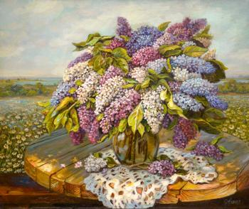 Lilacs in the open air. Panov Eduard