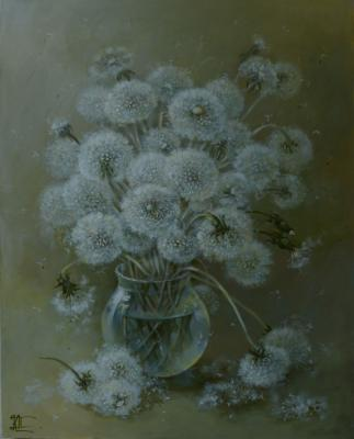 Panina Kira. A bouquet of fluffy dandelions