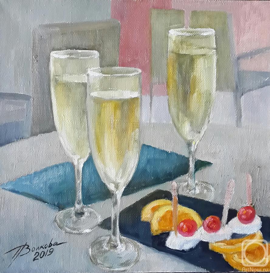 Шампанское в картинах художников