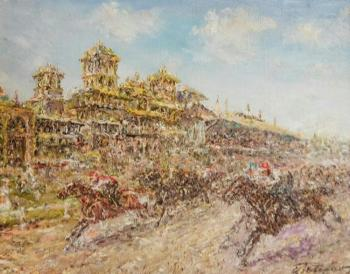 Teterin Sergey. Racing at the Moscow Hippodrome