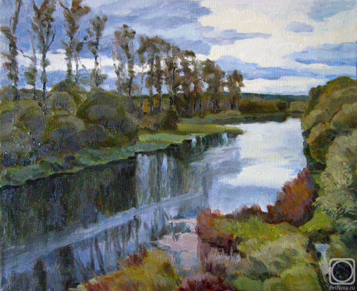 Homyakov Aleksey. River Protva in the outskirts of Borovsk