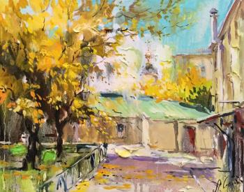 Charina Anna. Autumn courtyard on Pokrovka