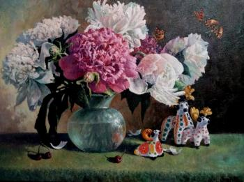 Svinin Andrey. The evening peonies