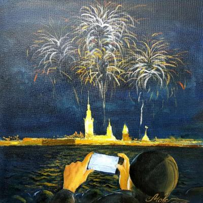 Moiseev Rinat. New year fireworks