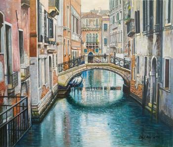 Venetian vacation. A walk along the canals. Romm Alexandr