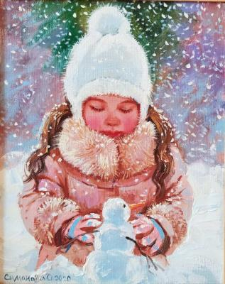 Snowman (Paintings About Children). Simonova Olga