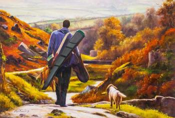 The road home. After a successful hunt. Romm Alexandr