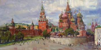 View of Pokrovsky Cathedral and Spasskaya tower. Poluyan Yelena
