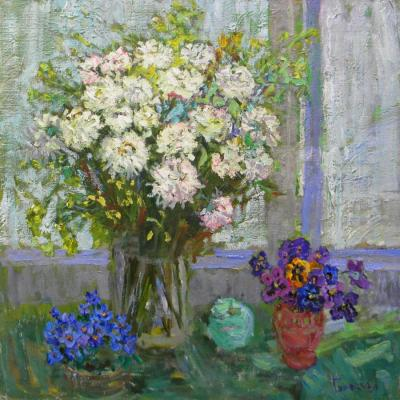 Goretskaya Polina. The flowers on the veranda