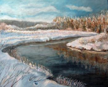Savelyeva Elena. Winter. River Sniejed
