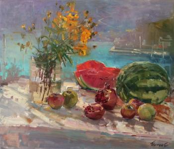 Still life with watermelon. Poluyan Yelena