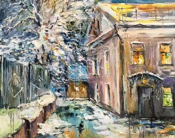 Winter evening. Courtyard on Pokrovka. Charina Anna